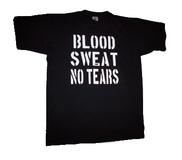 BLOOD,SWEAT,NO TEARS